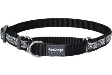 Red Dingo Martingale Collar Hypno Black MC-HY-BB
