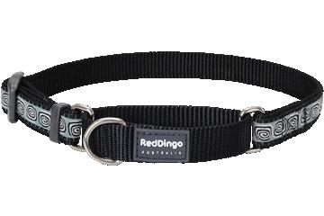 Red Dingo Martingale Collar Hypno Black MC-HY-BB