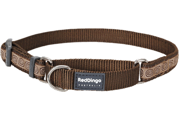 Red Dingo Martingale Collar Hypno Brown MC-HY-BR