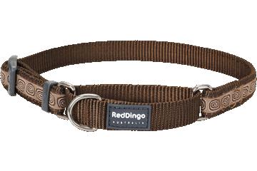 Red Dingo Martingale Collar Hypno Brown MC-HY-BR