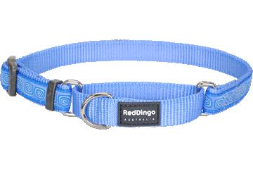 Red Dingo Martingale Collar Hypno Medium Blue MC-HY-MB