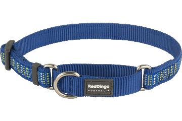 Red Dingo Martingale Collar Lotzadotz Dark Blue MC-LD-DB