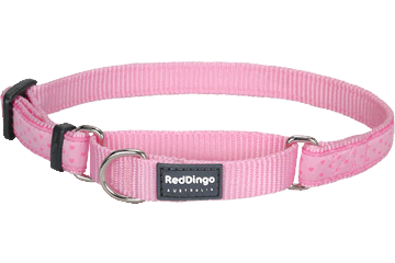 Red Dingo Zug-Stop Halsband Love Sprinkles Pink MC-LS-PK