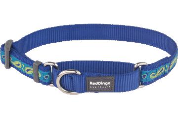 Red Dingo Martingale Collar Paisley Dark Blue With Green MC-P2-DB