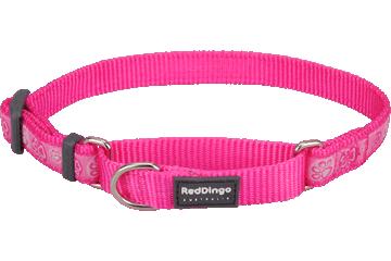 Red Dingo Martingale Collar Paw Impressions Hot Pink MC-PI-HP