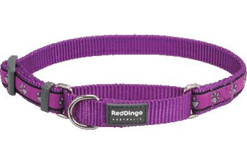 Red Dingo Martingale Collar Paw Prints Purple MC-PP-PU