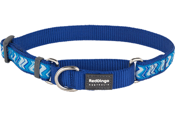 Red Dingo Martingale Collar Pizzazz Dark Blue MC-PZ-DB