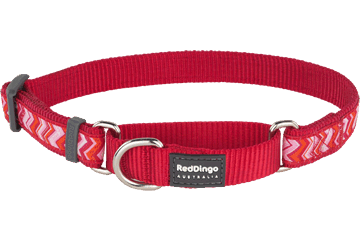 Red Dingo Martingale Collar Pizzazz Red MC-PZ-RE