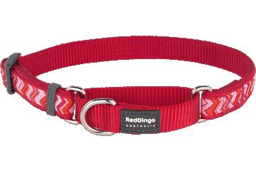 Red Dingo Martingale Collar Pizzazz Red MC-PZ-RE