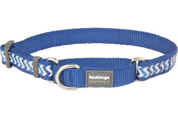 Red Dingo Martingale Collar Reflective Ziggy Dark Blue MC-RZ-DB