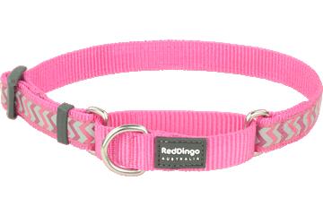 Red Dingo Martingale Collar Reflective Ziggy Hot Pink MC-RZ-HP