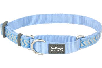 Red Dingo Martingale Collar Reflective Ziggy Medium Blue MC-RZ-MB