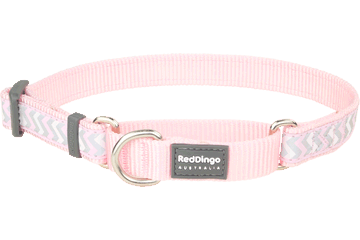Red Dingo Martingale Collar Reflective Ziggy Pink MC-RZ-PK