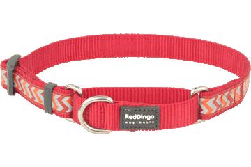 Red Dingo Martingale Collar Reflective Ziggy Red MC-RZ-RE