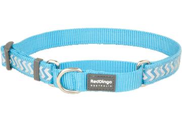Red Dingo Martingale Collar Reflective Ziggy Turquoise MC-RZ-TQ