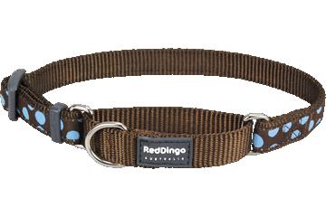 Red Dingo Martingale Collar Blue Spots Brown MC-S2-BR