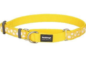 Red Dingo Martingale Collar White Spots Yellow MC-S5-YE