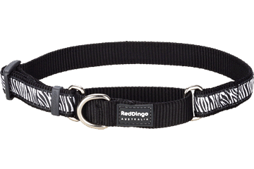 Red Dingo Martingale Collar Safari Black MC-SA-BB