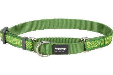 Red Dingo Martingale Collar Safari Green MC-SA-GR