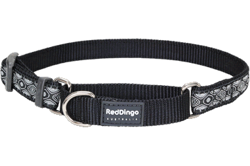 Red Dingo Martingale Collar Snake Eyes Noire MC-SE-BB