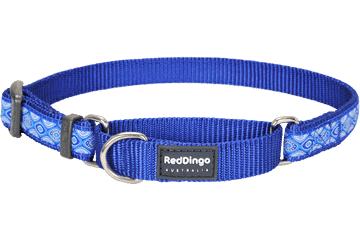 Red Dingo Martingale Collar Snake Eyes Dark Blue MC-SE-DB