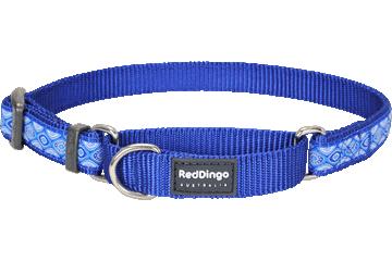 Red Dingo Martingale Collar Snake Eyes Dark Blue MC-SE-DB