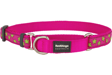 Red Dingo Zug-Stop Halsband Stars Hot Pink MC-ST-HP