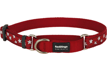 Red Dingo Martingale Collar Stars Red MC-ST-RE