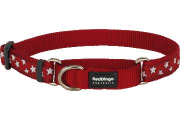 Red Dingo Martingale Collar Stars Red MC-ST-RE