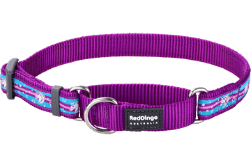 Red Dingo Martingale Collar Unicorn Purple MC-UC-PU