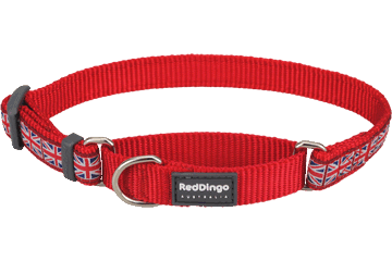 Red Dingo Martingale Collar Union Jack Red MC-UK-RE