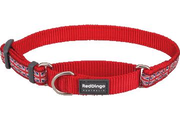 Red Dingo Martingale Collar Union Jack Red MC-UK-RE