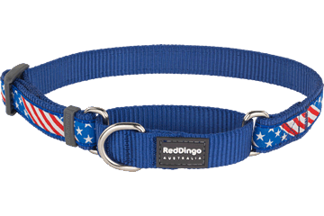 Red Dingo Martingale Collar Stars & Stripes Dark Blue MC-US-DB