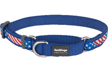 Red Dingo Martingale Collar Stars & Stripes Dark Blue MC-US-DB