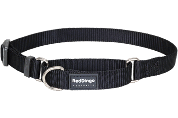 Red Dingo Martingale Collar Classic Black MC-ZZ-BB