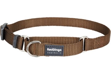 Red Dingo Martingale Halsband Klassiek bruin MC-ZZ-BR
