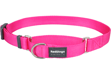 Red Dingo Martingale Halsband Klassiek fel-roze MC-ZZ-HP
