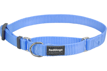 Red Dingo Martingale Halsband Klassiek medium blauw MC-ZZ-MB
