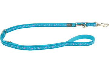Red Dingo Multipurpose Lead Butterfly Turquoise MP-BL-TQ