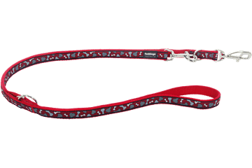 Red Dingo Multipurpose Lead Bonarama Red MP-BR-RE