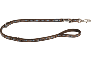Red Dingo Multipurpose Lead Bone Yard Brown MP-BY-BR