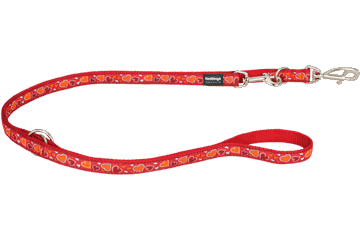 Red Dingo Multipurpose Lead Breezy Love Red MP-BZ-RE