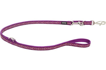 Red Dingo Multipurpose Lead Cosmos Purple MP-CO-PU