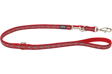 Red Dingo Laisse polyvalent Cosmos Rouge MP-CO-RE