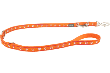 Red Dingo Laisse polyvalent Patte Orange MP-DP-OR