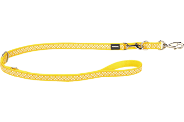 Red Dingo Multipurpose Lead Gingham Yellow MP-GI-YE