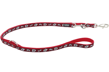 Red Dingo Multipurpose Lead Hibiscus Red MP-HI-RE