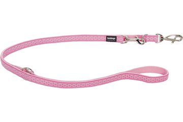 Red Dingo Multipurpose Lead Love Sprinkles Pink MP-LS-PK