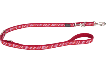 Red Dingo Multipurpose Lead Pizzazz Red MP-PZ-RE