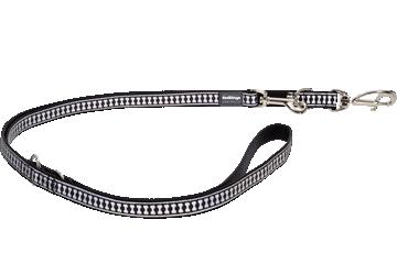 Red Dingo Multipurpose Lead Reflective Bones Nero MP-RB-BB